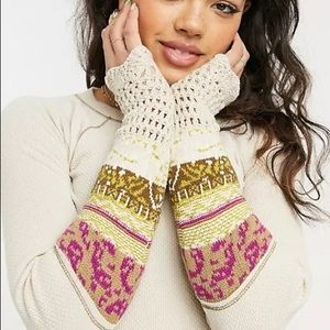 FREE PEOPLE IN THE MIX Thermal Mix Knitted Crochet Top